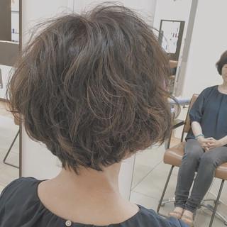 ゆるふわ ショート ナチュラル パーマ ヘアスタイルや髪型の写真・画像 ヘアスタイルや髪型の写真・画像