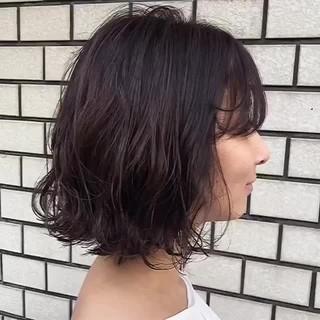 モテボブ アンニュイほつれヘア ミニボブ デート ヘアスタイルや髪型の写真・画像