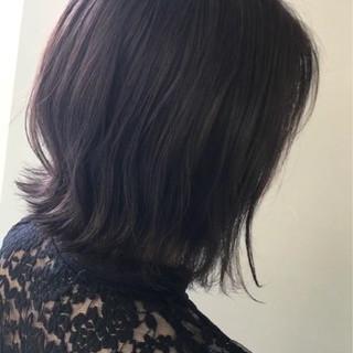 ボブ 外ハネ 大人女子 透明感 ヘアスタイルや髪型の写真・画像