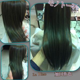 暗髪 ハイライト モード 渋谷系 ヘアスタイルや髪型の写真・画像