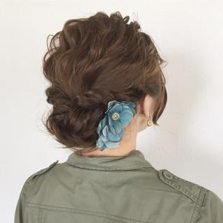 大人かわいい ゆるふわ ヘアアレンジ ボブ ヘアスタイルや髪型の写真・画像 ヘアスタイルや髪型の写真・画像