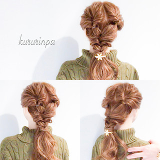ロング デート 結婚式 簡単ヘアアレンジ ヘアスタイルや髪型の写真・画像 ヘアスタイルや髪型の写真・画像