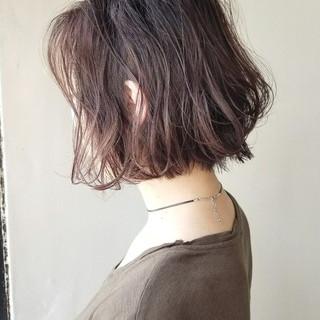グラデーションカラー ハイライト パープル アッシュ ヘアスタイルや髪型の写真・画像