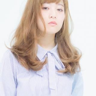 愛され フェミニン ウェーブ モテ髪 ヘアスタイルや髪型の写真・画像 ヘアスタイルや髪型の写真・画像