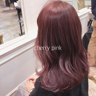 イルミナカラー シースルーバング ヘアアレンジ ナチュラル ヘアスタイルや髪型の写真・画像