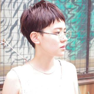 ショート ウェットヘア 外国人風 ナチュラル ヘアスタイルや髪型の写真・画像