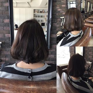 暗髪 色気 ハイライト ナチュラル ヘアスタイルや髪型の写真・画像