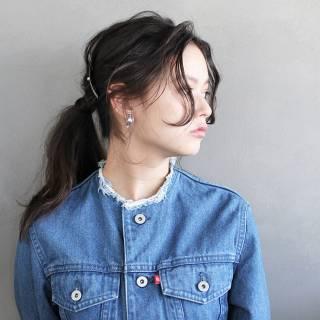ロング 簡単ヘアアレンジ ショート 編み込み ヘアスタイルや髪型の写真・画像