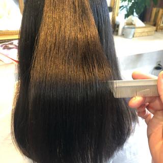 髪質改善カラー 美髪 ナチュラル ロング ヘアスタイルや髪型の写真・画像