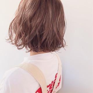 ボブ ラベンダーグレージュ ラベンダーアッシュ 透明感カラー ヘアスタイルや髪型の写真・画像