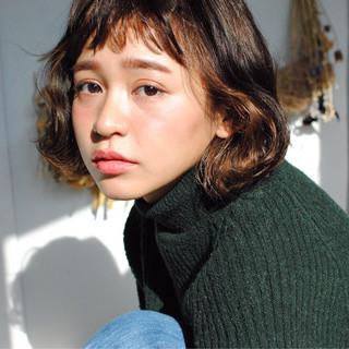 冬 暗髪 色気 ストリート ヘアスタイルや髪型の写真・画像