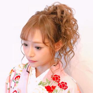 ヘアアレンジ ロング ガーリー 可愛い ヘアスタイルや髪型の写真・画像