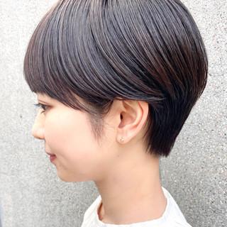 マッシュショート 大人ショート ナチュラル 大人かわいい ヘアスタイルや髪型の写真・画像