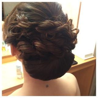 ヘアアレンジ 和装 着物 結婚式 ヘアスタイルや髪型の写真・画像
