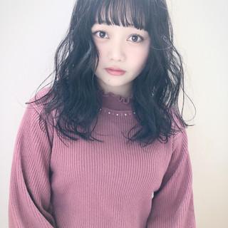 暗髪女子 暗髪 ナチュラル 黒髪 ヘアスタイルや髪型の写真・画像