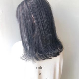 ナチュラル ツヤ髪 黒髪 セミロング ヘアスタイルや髪型の写真・画像 ヘアスタイルや髪型の写真・画像