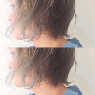 ストリート 外国人風 ダブルカラー 大人女子 ヘアスタイルや髪型の写真・画像