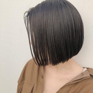 前下がりボブ ナチュラル まとまるボブ ミニボブ ヘアスタイルや髪型の写真・画像 ヘアスタイルや髪型の写真・画像