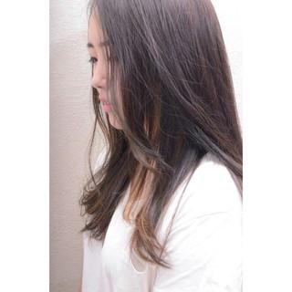ハイライト 外国人風 ロング アッシュ ヘアスタイルや髪型の写真・画像