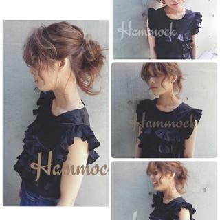 ショート 夏 フェミニン 簡単ヘアアレンジ ヘアスタイルや髪型の写真・画像 ヘアスタイルや髪型の写真・画像