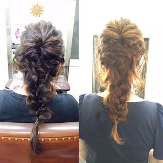 編み込み 大人かわいい 三つ編み ヘアアレンジ ヘアスタイルや髪型の写真・画像 ヘアスタイルや髪型の写真・画像