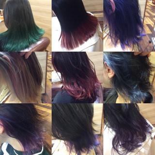 ガーリー インナーカラー デート デザインカラー ヘアスタイルや髪型の写真・画像