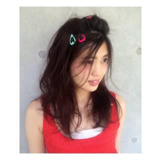 愛され モテ髪 ウェットヘア ストリート ヘアスタイルや髪型の写真・画像