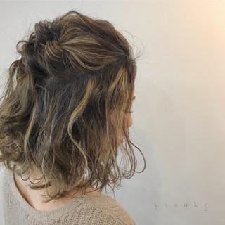 簡単ヘアアレンジ ショート ミディアム エレガント ヘアスタイルや髪型の写真・画像 ヘアスタイルや髪型の写真・画像