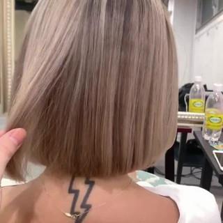 ボブ アウトドア 簡単ヘアアレンジ デート ヘアスタイルや髪型の写真・画像
