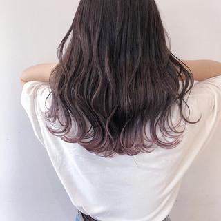 ラベンダーピンク ロング ピンクラベンダー ピンク ヘアスタイルや髪型の写真・画像