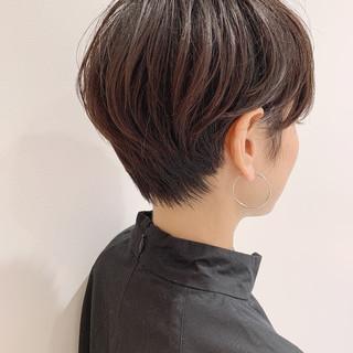 ショートヘア ショートボブ 前下がり ショート ヘアスタイルや髪型の写真・画像