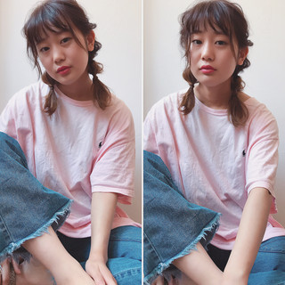 ミディアム デート 夏 ナチュラル ヘアスタイルや髪型の写真・画像