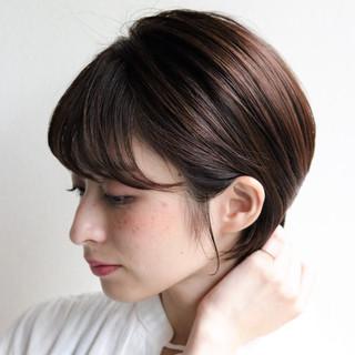 オフィス ショート デート 簡単ヘアアレンジ ヘアスタイルや髪型の写真・画像