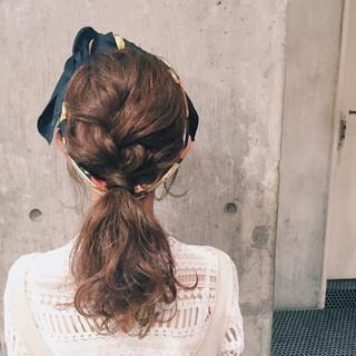 ミディアム 編み込み ヘアアレンジ セルフヘアアレンジ ヘアスタイルや髪型の写真・画像