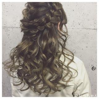 ハーフアップ エレガント 上品 パーティ ヘアスタイルや髪型の写真・画像