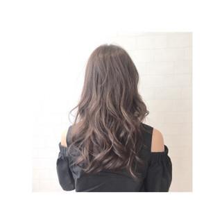 大人かわいい セミロング グラデーションカラー ナチュラル ヘアスタイルや髪型の写真・画像