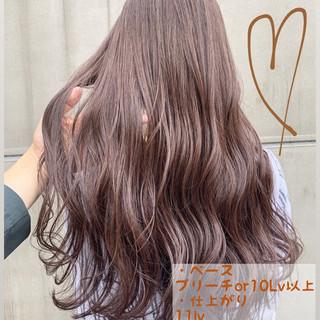 ヘアアレンジ ナチュラル セミロング グレージュ ヘアスタイルや髪型の写真・画像