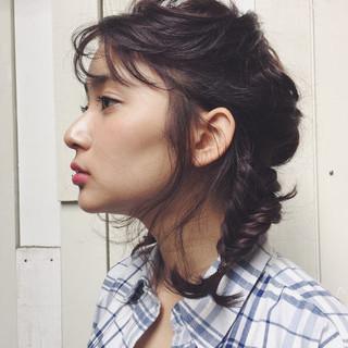 アッシュ ヘアアレンジ ショート ミディアム ヘアスタイルや髪型の写真・画像