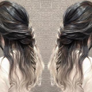外国人風カラー 外国人風 ヘアアレンジ ストリート ヘアスタイルや髪型の写真・画像