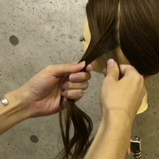 ナチュラル ロング 簡単ヘアアレンジ ハーフアップ ヘアスタイルや髪型の写真・画像