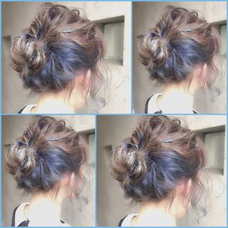 グラデーションカラー 外国人風 ショート ヘアアレンジ ヘアスタイルや髪型の写真・画像 ヘアスタイルや髪型の写真・画像