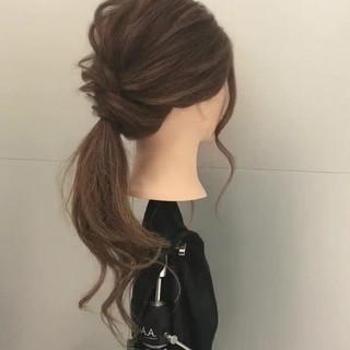 簡単 ロング 簡単ヘアアレンジ ヘアアレンジ ヘアスタイルや髪型の写真・画像