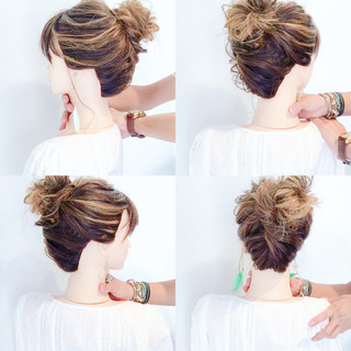 女子会 簡単ヘアアレンジ ヘアアレンジ 涼しげ ヘアスタイルや髪型の写真・画像