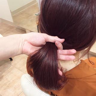 フェミニン イルミナカラー 大人かわいい ピンク ヘアスタイルや髪型の写真・画像
