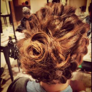 結婚式 ヘアアレンジ 編み込み アップスタイル ヘアスタイルや髪型の写真・画像