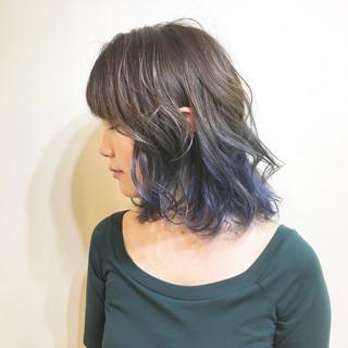 ハイトーン 斜め前髪 透明感 色気 ヘアスタイルや髪型の写真・画像