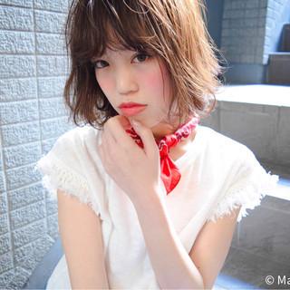 外国人風 大人かわいい ボブ ストリート ヘアスタイルや髪型の写真・画像