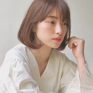 タンバルモリ 韓国ヘア ナチュラル ブラウンベージュ ヘアスタイルや髪型の写真・画像