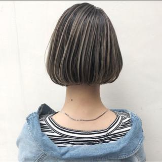 パーマ グレージュ 外国人風カラー ハイライト ヘアスタイルや髪型の写真・画像