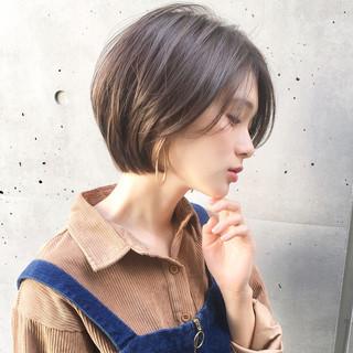 簡単ヘアアレンジ デート ショート ナチュラル ヘアスタイルや髪型の写真・画像